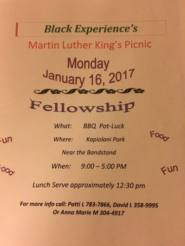 2017 black Experince Martin Luther King Picnic